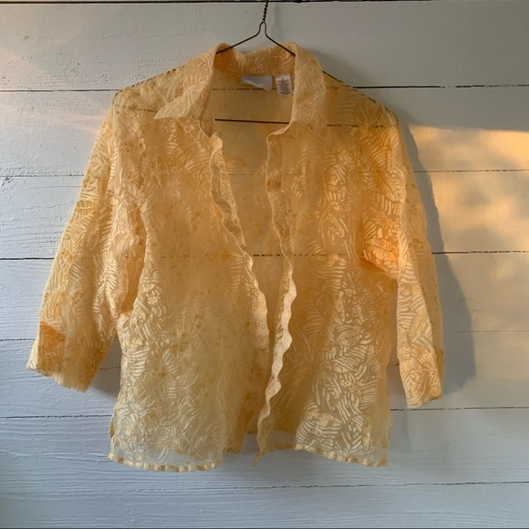 Vintage Sheer Textured Shirt
